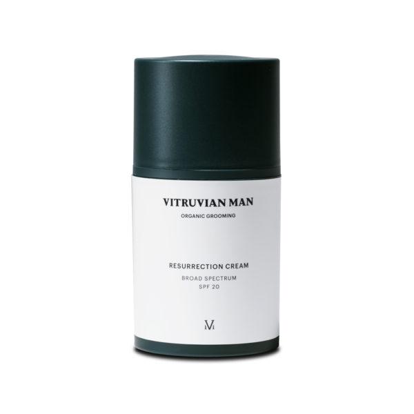Vitruvian man pollution cleanser