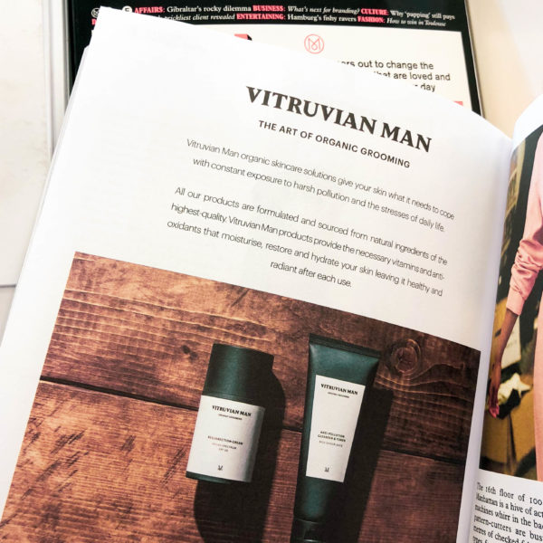 Vitruvian man male skin cream