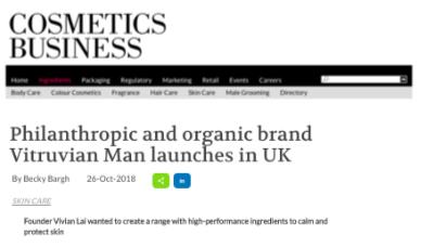 Cosmetics Business vitruvian man