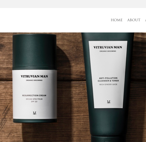 Vitruvian man male skin care