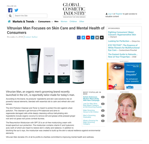 Global Cosmetic Industry Publication