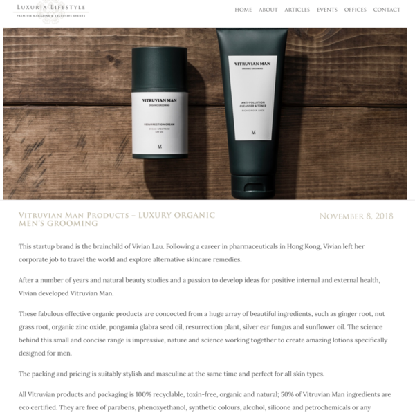 Vitruvian man best skincare for men with oily skin