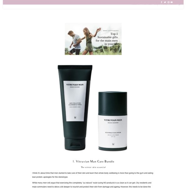 Vitruvian Man skincare Emily English Blog