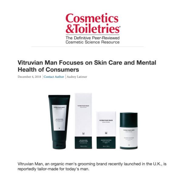 Cosmetics and Toileteries Featuring Vitruvian Man Skincare