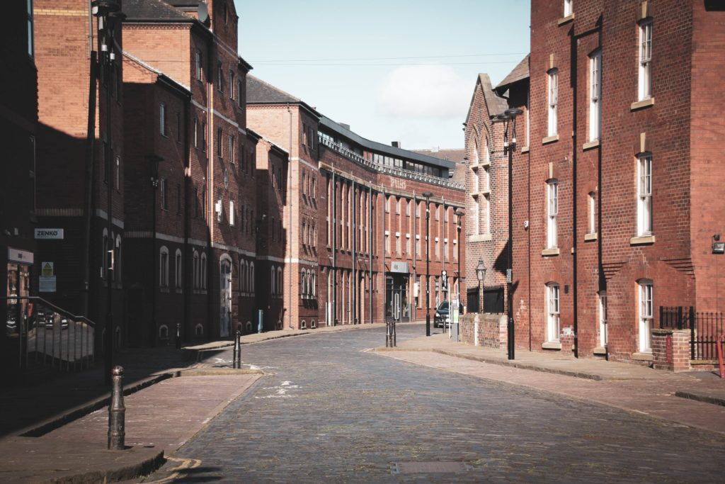 Leeds empty street with lockdown 2020
