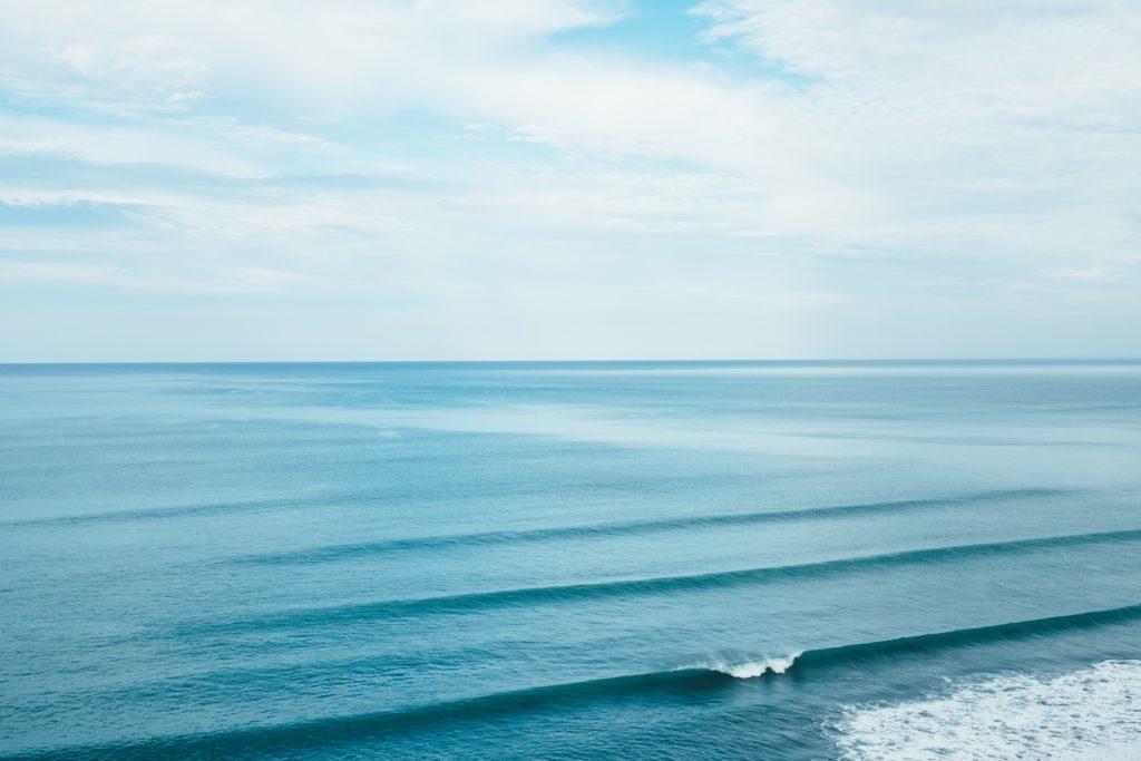 Silent and calm ocean