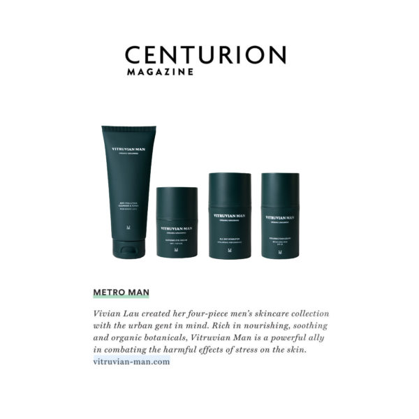 Centurion Magazine featuring Vitruvian Man Skincare