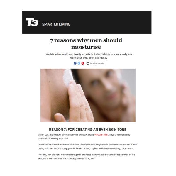 T3 Smarter Living_Why Men Should Moisturize